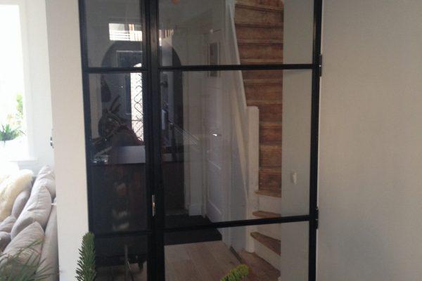 Stalen deur (scharnier) met paneel – Haarlem