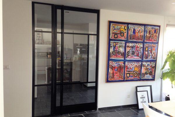 Stalen deur met paneel – Rotterdam