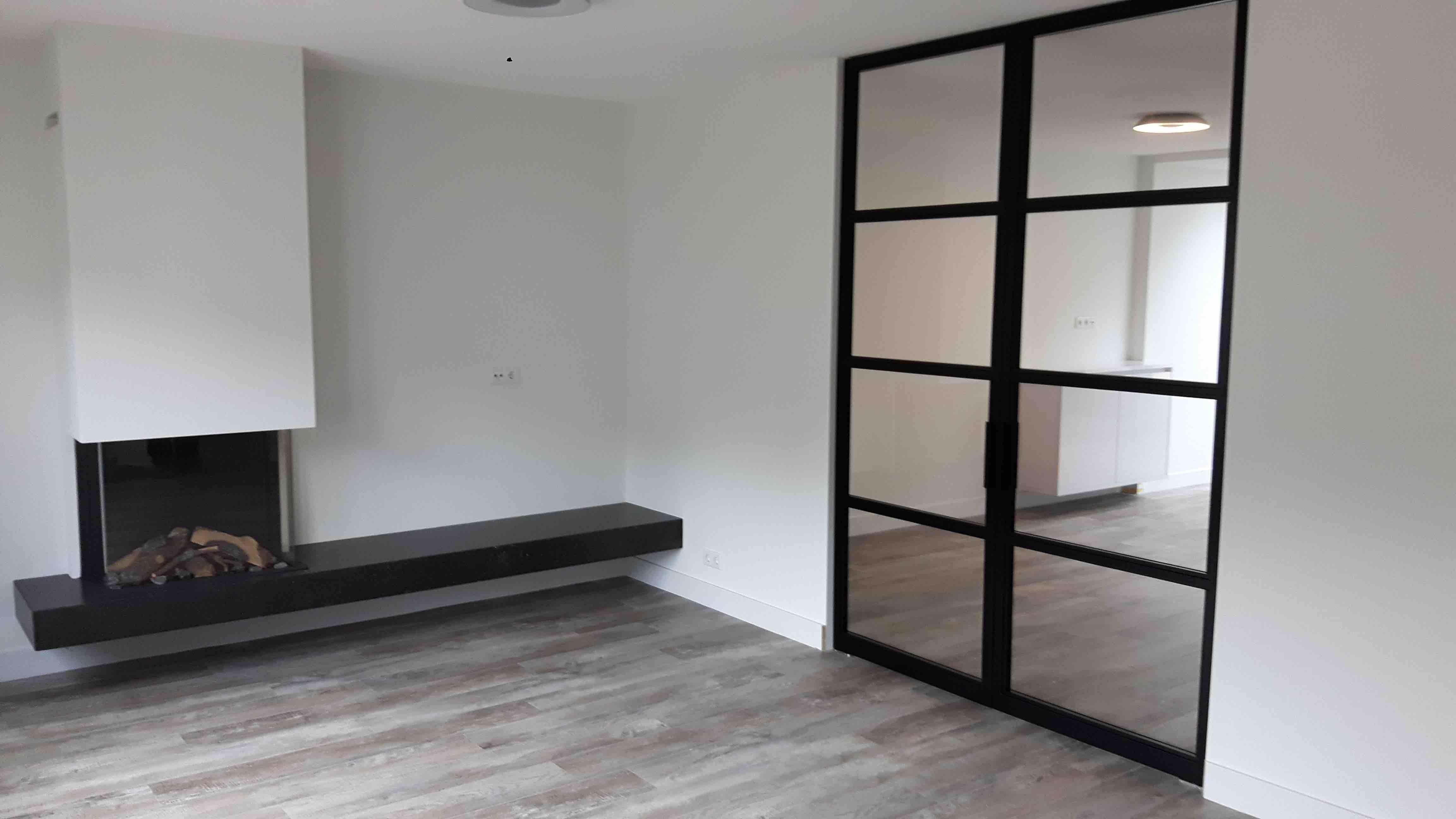 Dubbele stalen taatsdeur met 4 vlakken en buisgreep - Nijmegen - Mijn Stalen Deur
